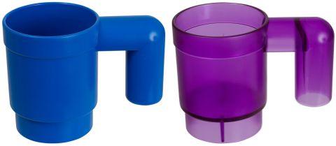 Human LEGO Mug in Blue and Purple