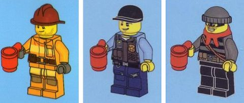 LEGO Minifigs with Cups