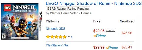 LEGO Ninjago Shadow of Ronin on Amazon