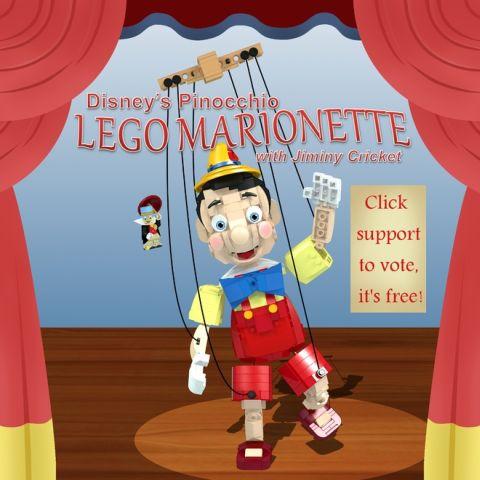 LEGO Pinocchio on LEGO Ideas