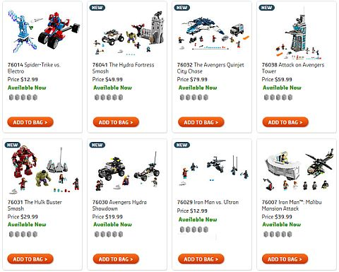 Shop 2015 LEGO Marvel Super Heroes