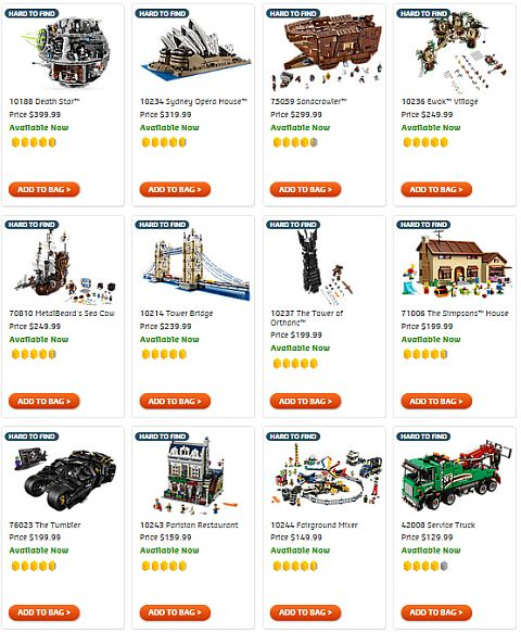 Shop LEGO Hard to Find