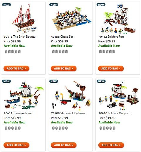 Shop LEGO Pirates