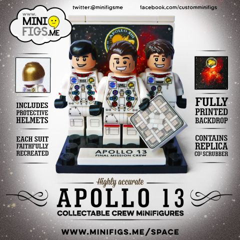 Custom LEGO Minifigs by Minifigs.Me Apollo Crew