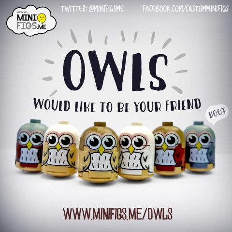 Custom LEGO Minifigs by Minifigs.Me Owls