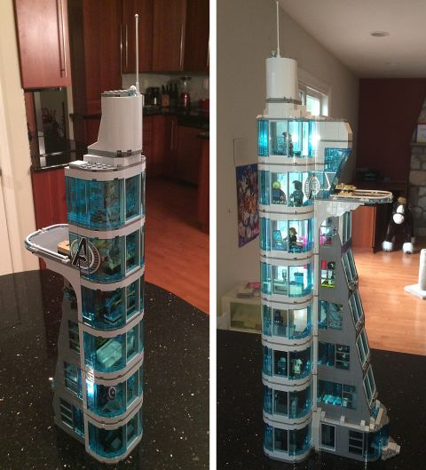 LEGO Avengers Tower 2.0 and 3.0