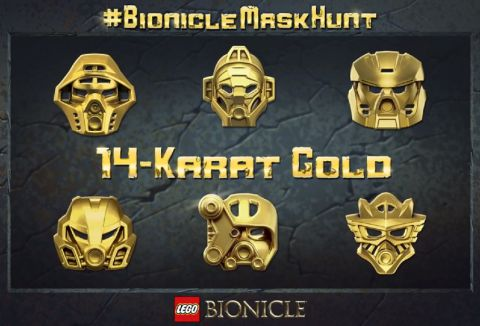 LEGO Bionicle Gold Mask Hunt