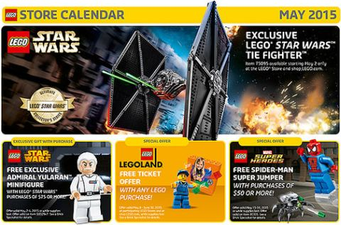 LEGO Store Calendar May 2015