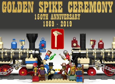 LEGO Train Golden Spike Ceremony Anniversary Edition
