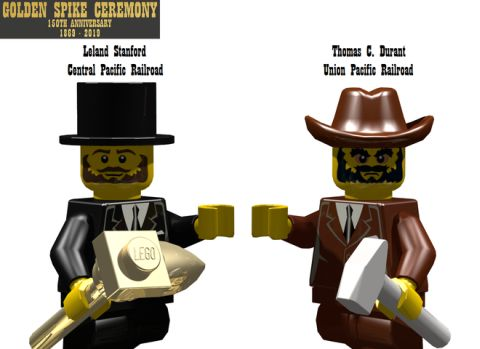 LEGO Train Golden Spike Ceremony Details