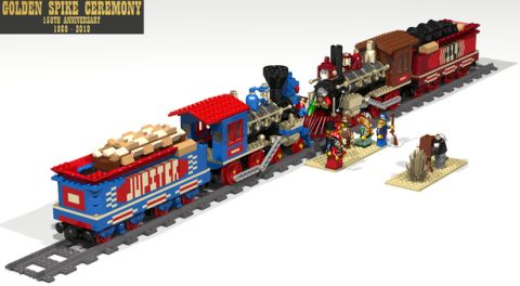 LEGO Train Golden Spike Ceremony Set
