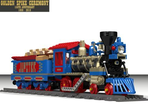 LEGO Train Golden Spike Ceremony Train 1
