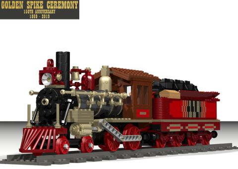 LEGO Train Golden Spike Ceremony Train 2