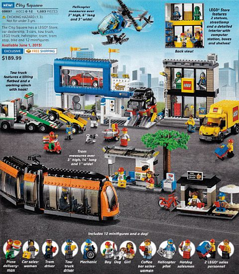#60097 LEGO City Square Review