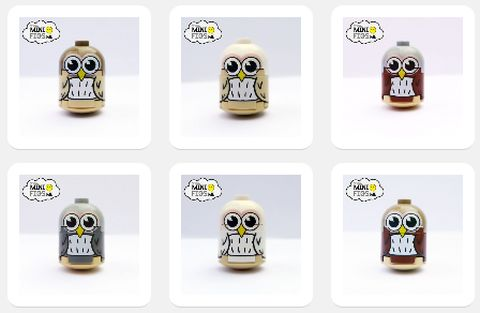Custom LEGO Owls by Minifigs.me Details