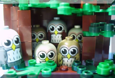 Custom LEGO Owls by Minifigs.me