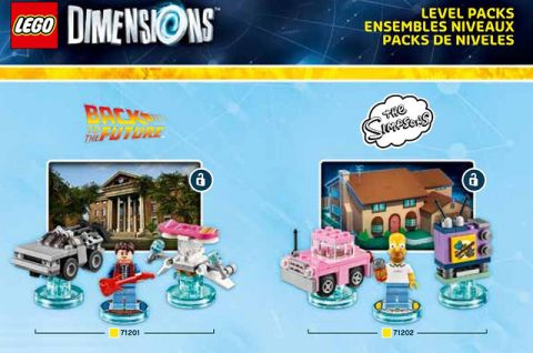 LEGO Dimensions Pack BTTF & The Simpsons