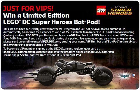 LEGO June Store Calendar Bat-Pod