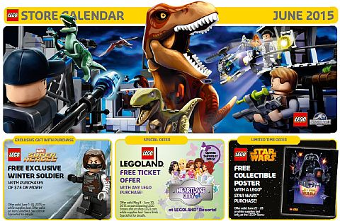 LEGO June Store Calendar Promotions