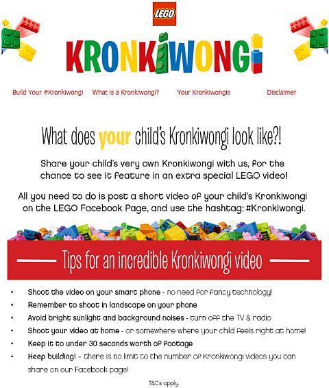 LEGO Kronkiwongi Campaign Details