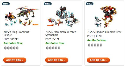 Shop 2015 LEGO Summer Chima Sets