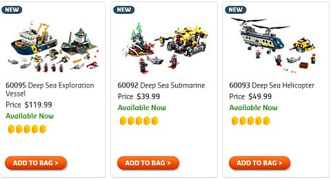 Shop 2015 LEGO Summer Deep Sea Sets