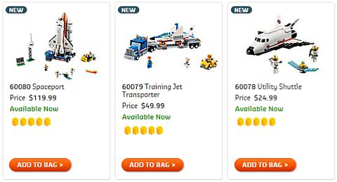 Shop 2015 LEGO Summer Space Sets