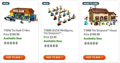 Shop LEGO Simpsons Sets