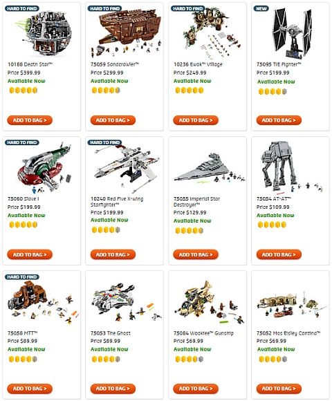 Shop LEGO Star Wars Sets