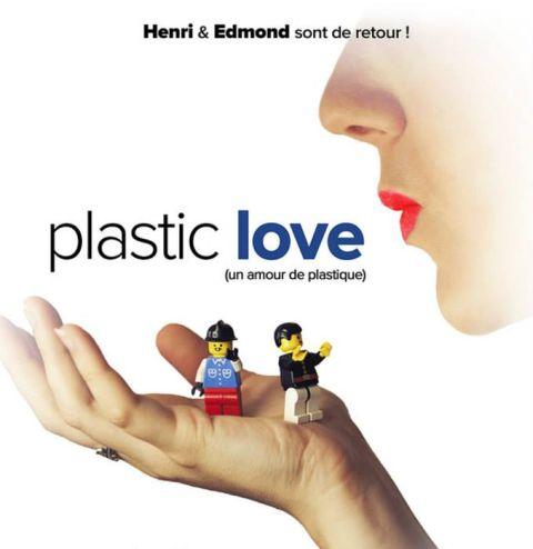 LEGO BrickFilm Henri and Edmond Plastic Love Poster