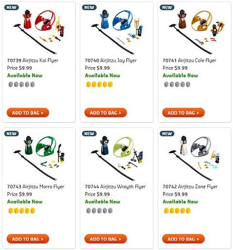 Shop LEGO Ninjago Airjitzu Flyers