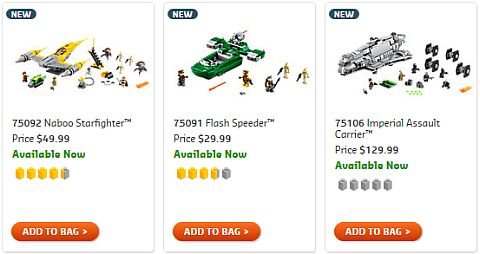 Shop LEGO Star Wars 2015 Summer Sets