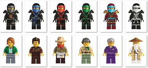 #70751 LEGO Ninjago Temple of Airjitzu Minifigures