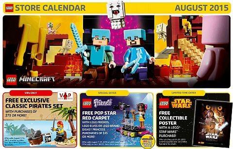 LEGO Store Calendar August 2015