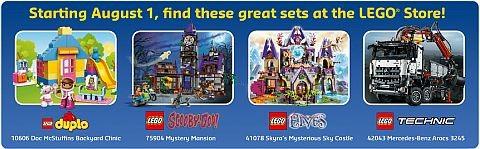 LEGO Store Calendar August 2015 Details