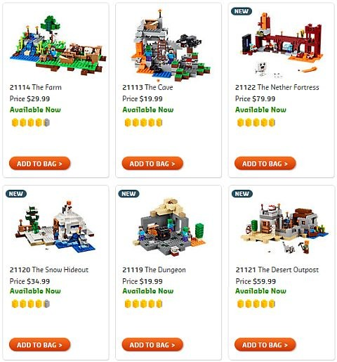 Shop 2015 LEGO Minecraft