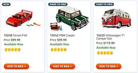 Shop LEGO Creator Expert Builder Vehicles