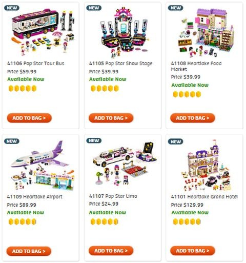 Shop LEGO Friends 2015 Summer Sets