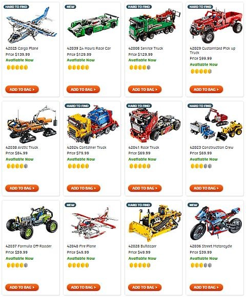 Shop LEGO Technic