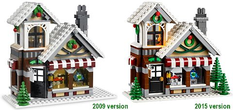 #10249 LEGO Winter Village Toy Shop vs. #10199 LEGO Winter Village Toy Shop