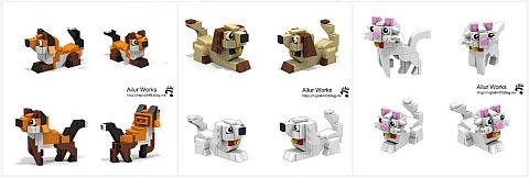 LEGO Animals Cats and Dogs by Bangoo