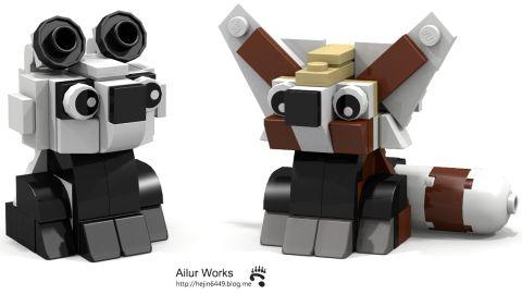 LEGO Animals Pandas by Bangoo