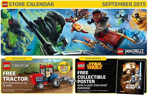 LEGO Store Calendar September 2015