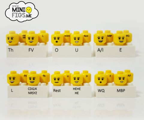 Custom LEGO Minifig Heads for BrickFilmers by Minifigs.me
