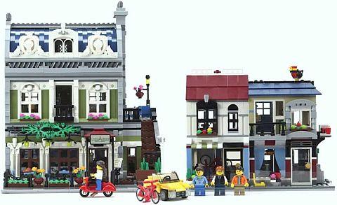 LEGO Creator Bike Shop & Cafe Next to Modular Building