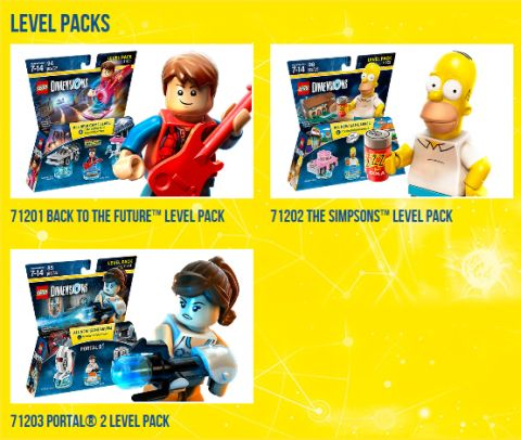 LEGO Dimensions Packs Level