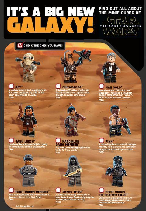 LEGO Star Wars The Force Awakens - LEGO Club Magazine Characters