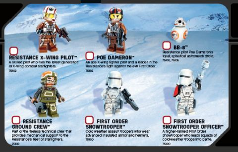 LEGO Star Wars The Force Awakens - LEGO Club Magazine Minifigs