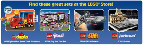 LEGO Store Calendar October 2015 New Sets