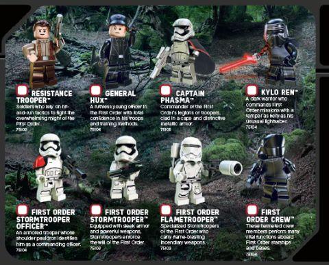 LEGo Star Wars The Force Awakens - LEGO Club Magazine Minifigures